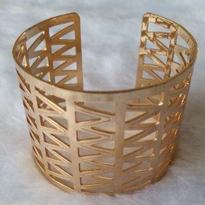 $ Gold Geometric Gladiator Metal Cuff